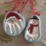 Фото 40: Новогодние игрушки из соленого теста отпечатки