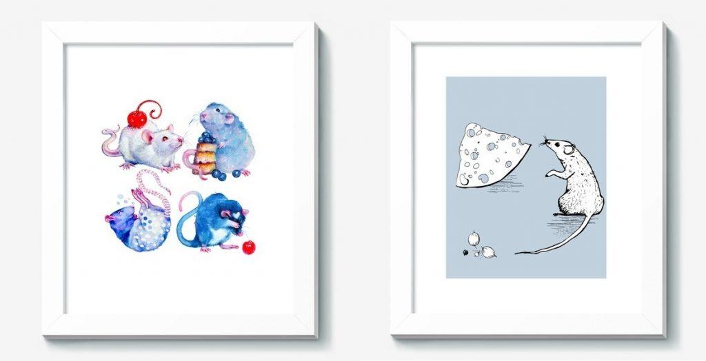Картины с крысами