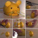 Фото 116: Мышка из лимона