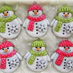 Фото 7: Подарочные снеговики из соленого теста