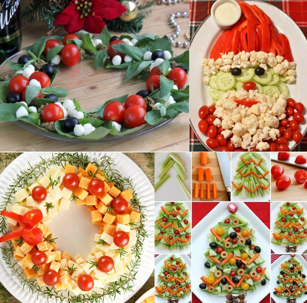 Новогодние нарезки из овощей