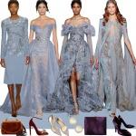 Фото 77: Серо–голубые платья