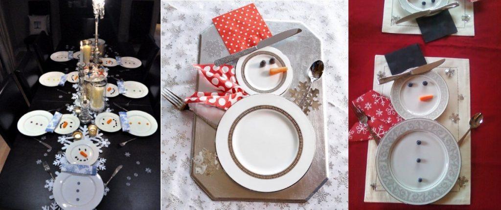 Снеговики из тарелок на Новый Год