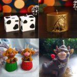 Фото 108: Новогодние свечи на Год Быка