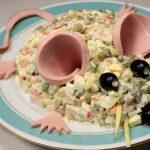 Фото 115: Декор салат к Году Крысы