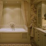 Фото 39: Английский стиль в ванной комнате