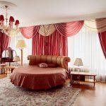 Фото 16: Бордовые шторы коричневые
