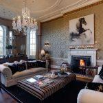 Фото 36: Интерьер гостиной английский стиль