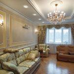 Фото 40: Классический стиль в интерьере зала