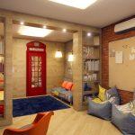 Фото 53: Комната в английском стиле