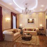 Фото 46: Красивый интерьер гостиной - зала
