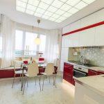 Фото 23: Красно-белая кухня