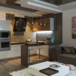 Фото 58: Кухня коричневая