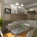 Фото 43: Кухня со столовой
