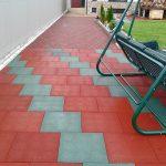 Фото 49: Резиновая плитка красная