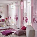 Фото 16: Розовые шторы