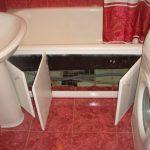 Фото 44: Экран - шкаф под ванну