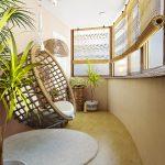 Фото 10: Балкон в эко стиле