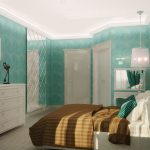 Фото 1: Бирюзовая спальня