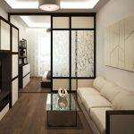 Фото 17: Дизайн узкой гостиной