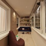Фото 46: Интерьер балкона