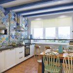 Фото 72: Кухня с занавесками