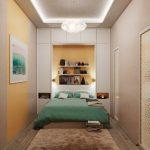 Фото 55: Узкая спальня - интерьер