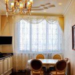 Фото 36: Шторы на кухню классические