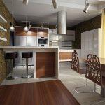 Фото 36: Кухня гостиная