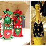Фото 39: Новогоднее украшение бутылок