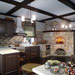 Фото 50: Печка на кухне