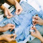 Фото 38: Рваные джинсы тёркой