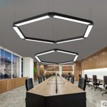 Фото 63: Подвесные LED-лампы в форме сот