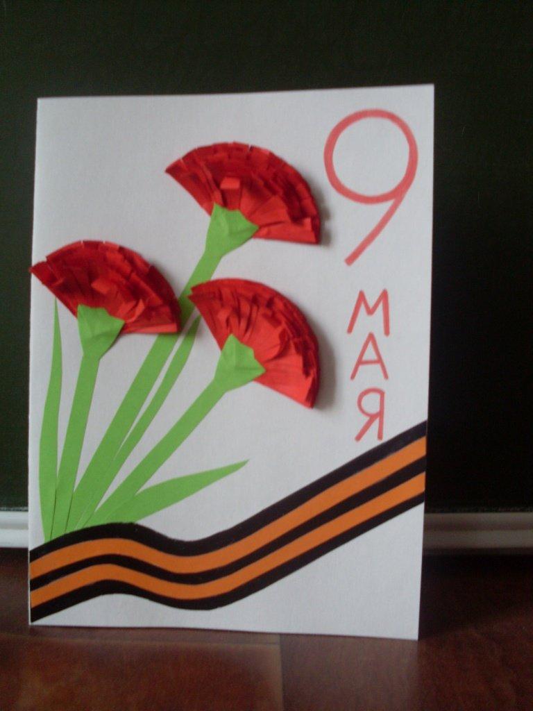 Как сделать открытки на 9 мая день победы своими руками