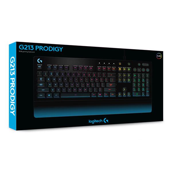 Logitech G G213 Prodigy RGB Gaming Keyboard Black USB