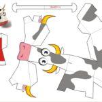 Фото 114: Схема быка из бумаги