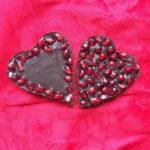 Фото 103: Шоколадные сердечки с гранатом