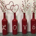 Фото 73: Декор бутылок к Дню Влюбленных