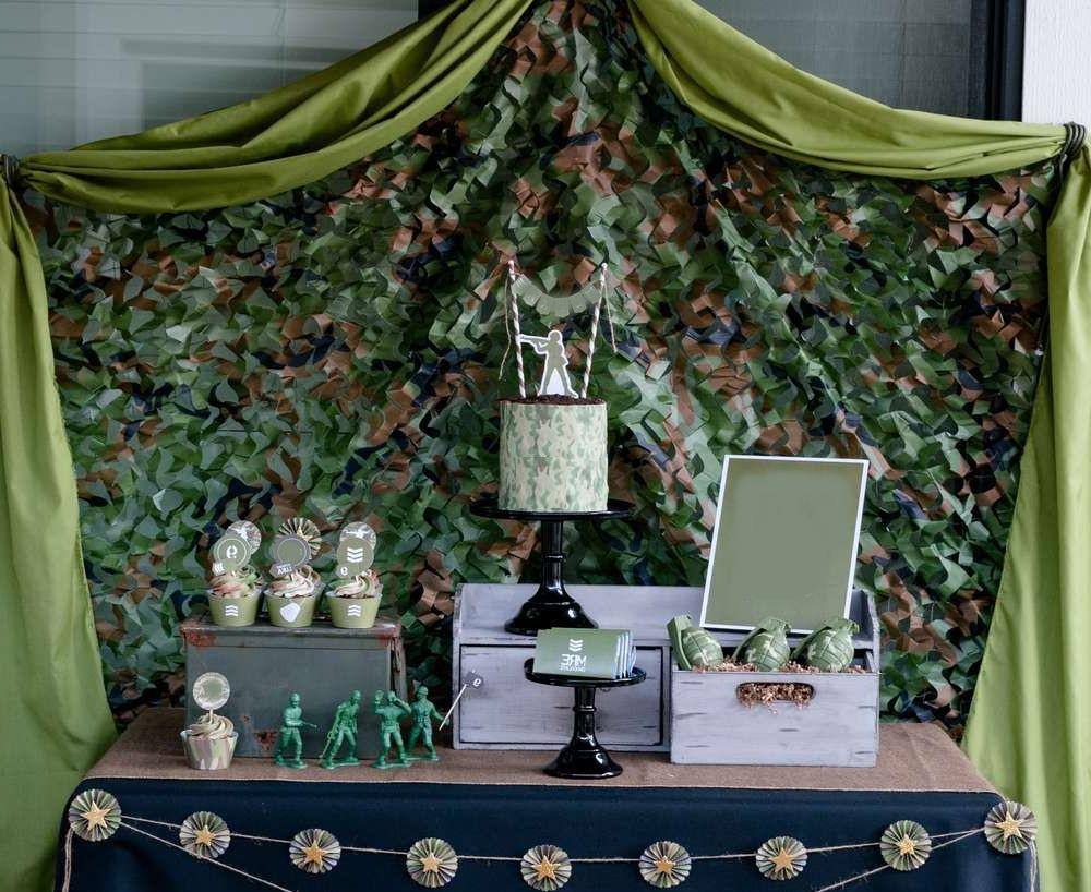 Оформить зал декорациями на военную тематику на 23 февраля