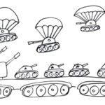 Фото 73: Военный рисунок десант танков на поле боя