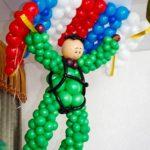 Фото 111: Десантник из воздушных шаров на праздник на 23 февраля