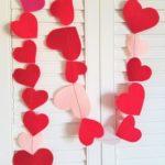 Фото 39: Лента из фетровых сердец