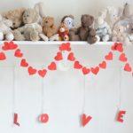 Фото 56: Гирлянда сердечками с буквами