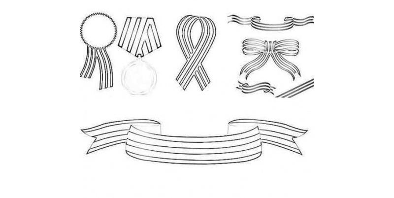Различные рисунки георгиевских лент