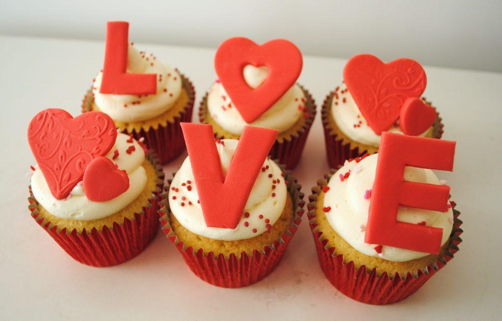Кексы на День Валентина