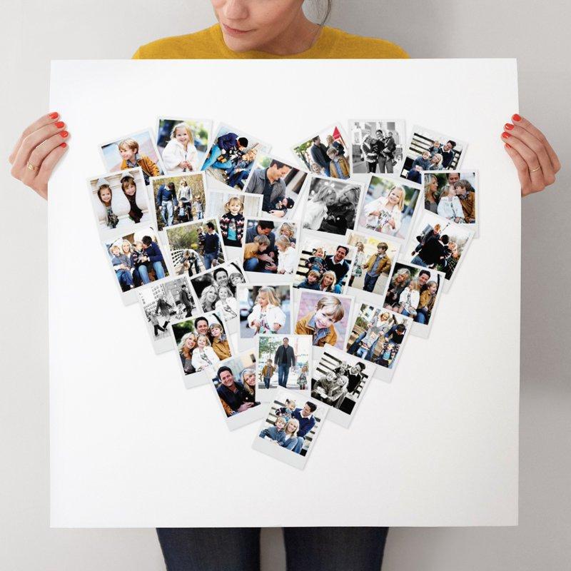 Фотоколлаж-сердце в подарок девушке