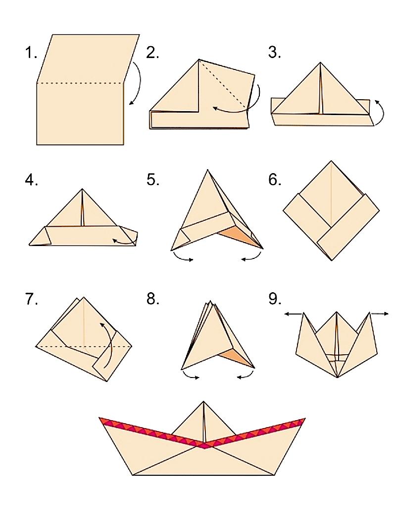 Как сделать кораблик своими руками оригами