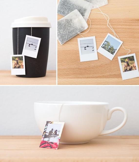 Подарочные фото ярлычки на чайные пакетики