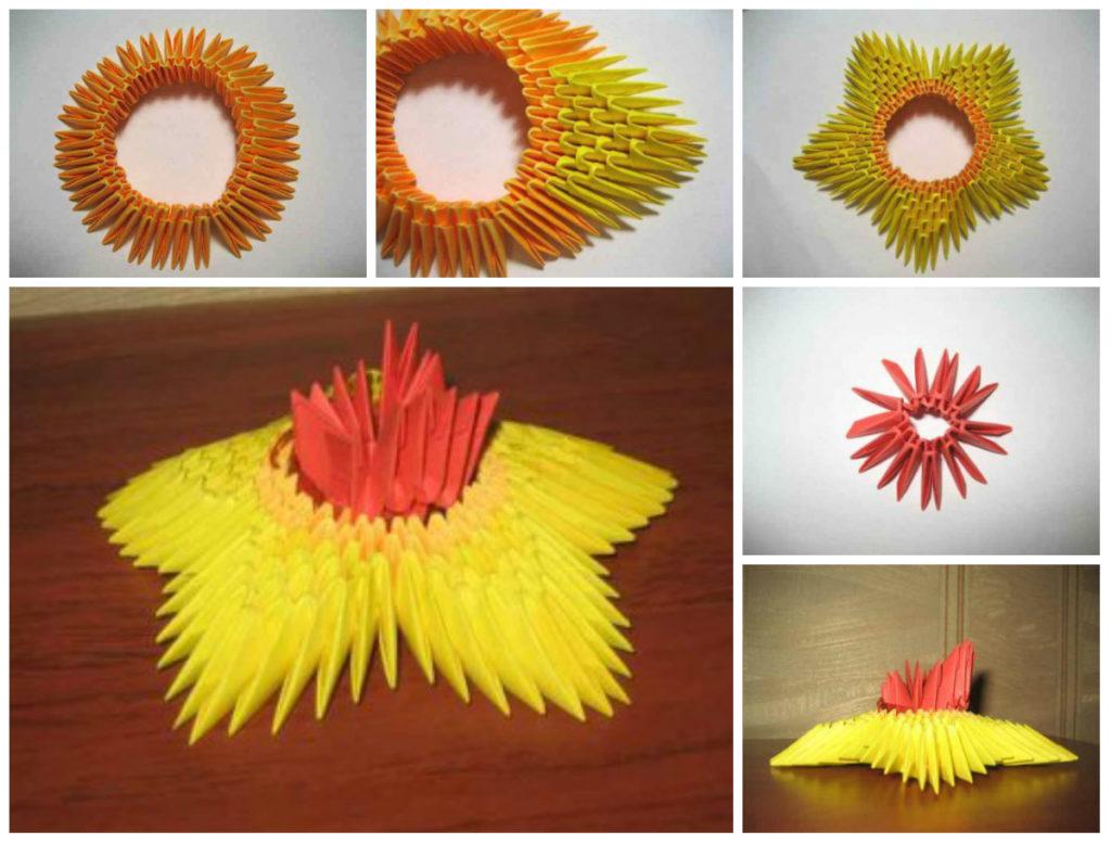 Собрать вечный огонь в технике модульного оригами