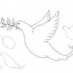 Фото 72: Как нарисовать голубя мира поэтапно